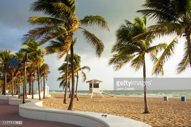 fort lauderdale beach, florida - sunrise fort lauderdale stock pictures, royalty-free photos & images