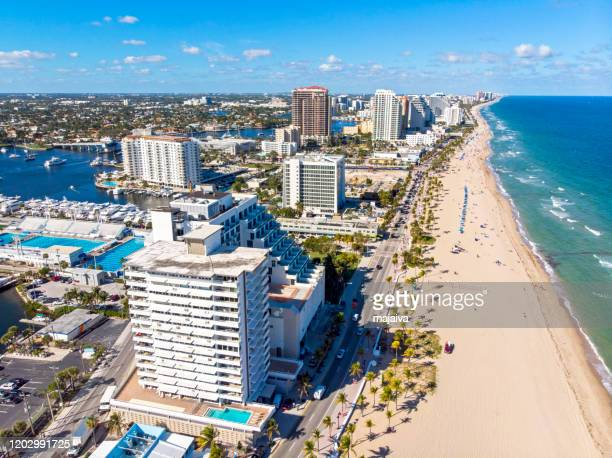 fort lauderdale beach - sunrise fort lauderdale stock pictures, royalty-free photos & images