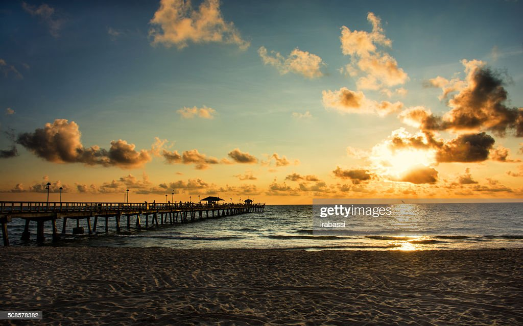 フォートローダーデールのビーチ : ストックフォト