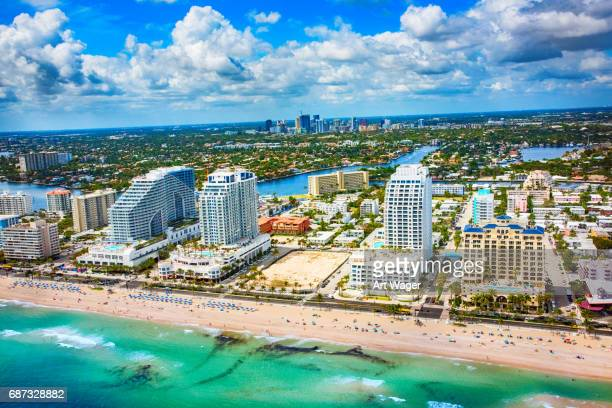 fort lauderdale beachfront hotels - fort lauderdale stock pictures, royalty-free photos & images