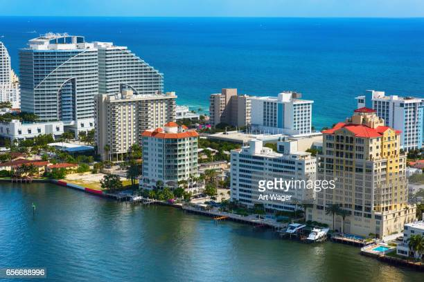 fort lauderdale florida aerial - fort lauderdale stock pictures, royalty-free photos & images