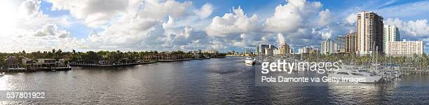 Fort Lauderdale Harbor and bridge in Las Olas Boulevard, Florida, USA