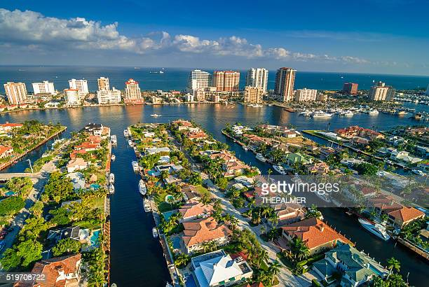 fort lauderdale intracoastal - fort lauderdale stock pictures, royalty-free photos & images