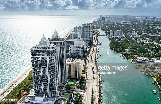 fort lauderdale strip aerial view - hollywood california stock pictures, royalty-free photos & images