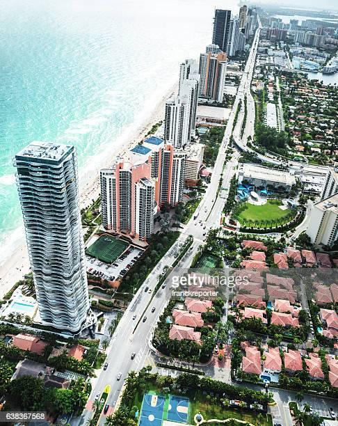 フォートローダーデールの空からの眺め - フロリダ州ハリウッド ストックフォトと画像