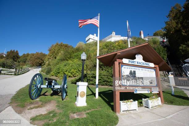 fort mackinac - mackinac island - mackinac island stock pictures, royalty-free photos & images