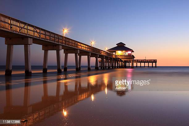 fort myers beach, florida - fort myers beach stock photos and pictures