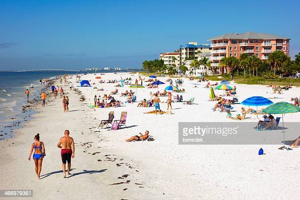 fort myers beach, florida - fort myers beach stock pictures, royalty-free photos & images