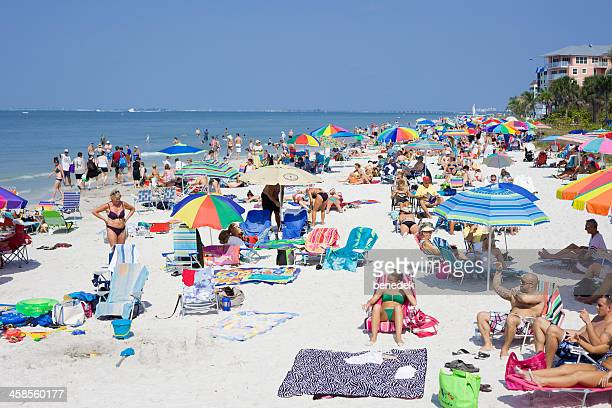 fort myers beach, florida, usa - fort myers beach stock photos and pictures