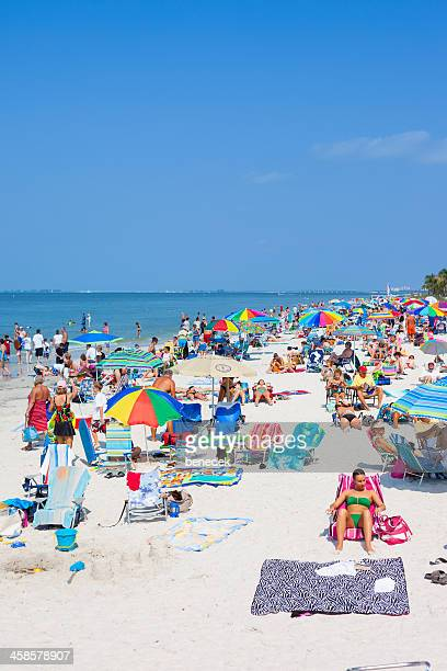 fort myers beach, florida, usa - fort myers beach stock pictures, royalty-free photos & images
