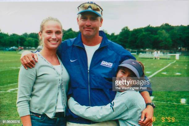 Older sister Elizabeth Rehbin when this family image was taken in 1999 their father Dick Rehbein then coaching Tight Ends for the NY Giants and...