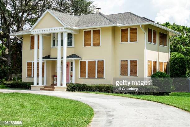 Fort Myers Seminole Park Historic District home with boarded up windows