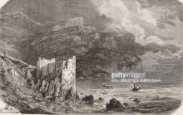 Fort of AbdelKader at Bejaia Algeria drawing by Gustave Dore from a sketch by Bordone illustration from Musee FrancaisAnglais n 16 April 1856