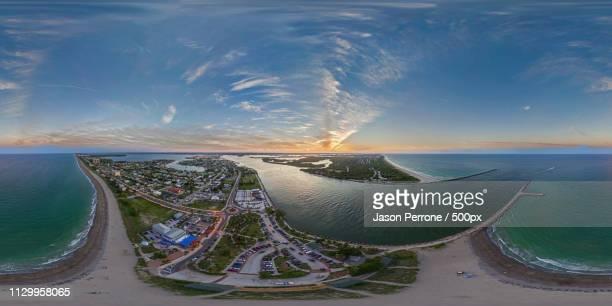 fort pierce inlet aerial - hdri 360 ストックフォトと画像