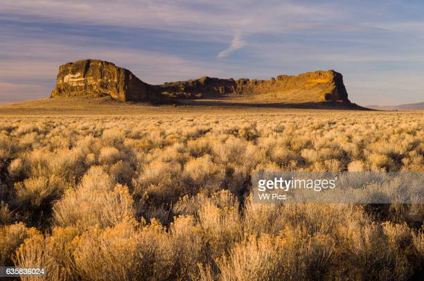 Fort Rock a volcanic tuff ring in the high desert of southcentral Oregon