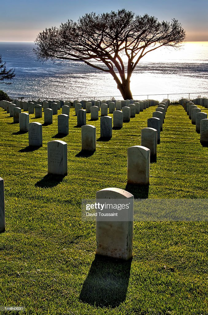 Fort Rosecrans National Cemetery : Foto de stock