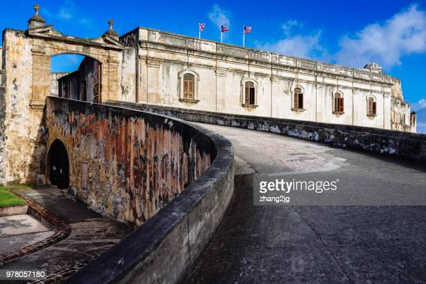 fort san cristobal, san juan, puerto rico - san juan stock pictures, royalty-free photos & images