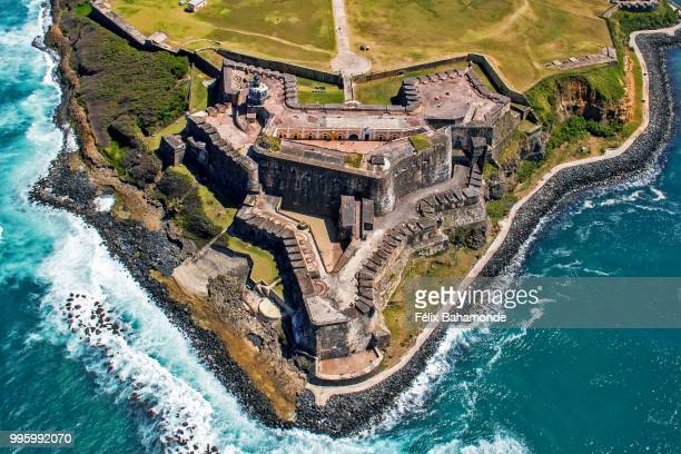 fort san felipe del morro - puerto rico stock pictures, royalty-free photos & images