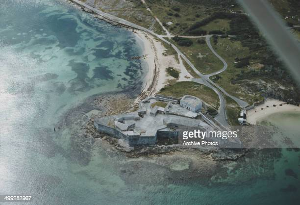 Fort St Catherine a 17th century coastal artillery fort on St George's Island Bermuda circa 1960 It is flanked by Achilles' Bay and St Catherine's...