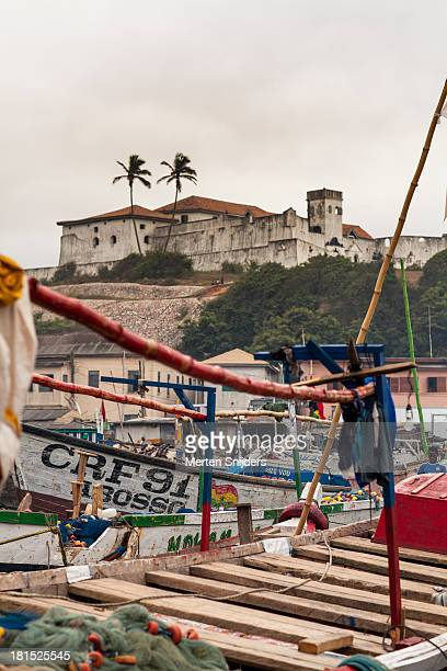 fort st. jago from elmina harbour - merten snijders stock pictures, royalty-free photos & images