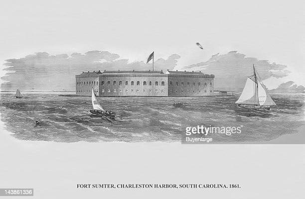 Fort Sumter Charleston Harbor South Carolina 1861 From an issue of Frank Leslie's Illustrated Almanac