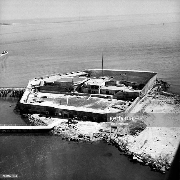 Fort Sumter in Charleston harbor