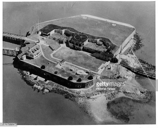 Fort Sumter in Charleston South Carolina 1955