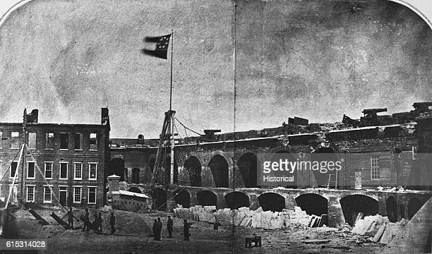 Fort Sumter South Carolina site of the opening shots of the Civil War after its evacuation by Major Robert Anderson 1st Artillery USA April 14 1861