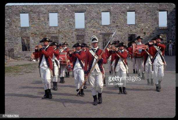 Fort Ticonderoga Fife and Drum Corps at Place d'Armes