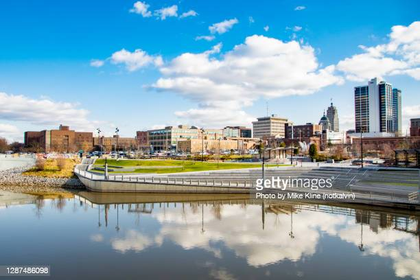 fort wayne indiana and promenade park - indiana stock pictures, royalty-free photos & images
