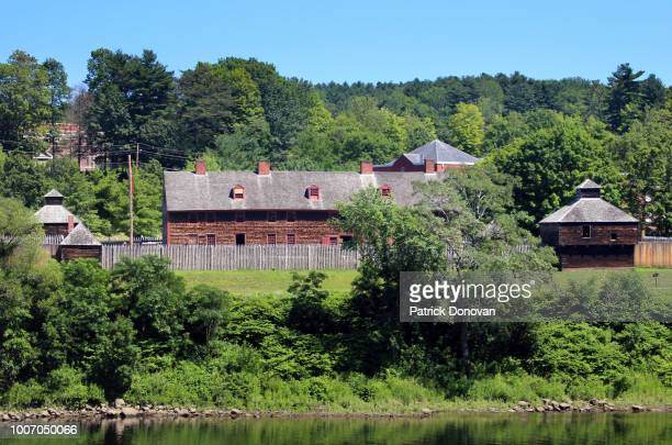 fort western, augusta, maine - augusta maine stock pictures, royalty-free photos & images