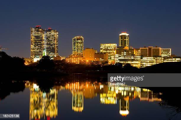 Fort Worth Downtown evening skyline