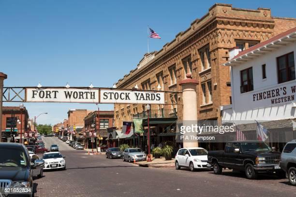 fort worth stock yards sign, texas - フォートワース ストックフォトと画像