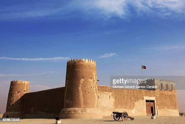 fort zubarah of qatar - fortress stock pictures, royalty-free photos & images