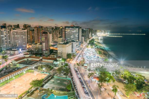 fortaleza at night, brazil - distrito federal brasilia stock pictures, royalty-free photos & images