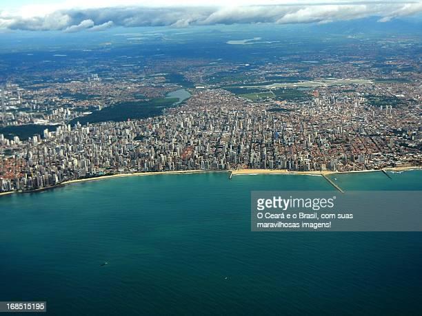 fortaleza. vista aérea - vista aérea stock pictures, royalty-free photos & images