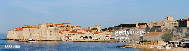 fortefied medieval city of dubrovnik, croatia during the day - ogphoto stock pictures, royalty-free photos & images