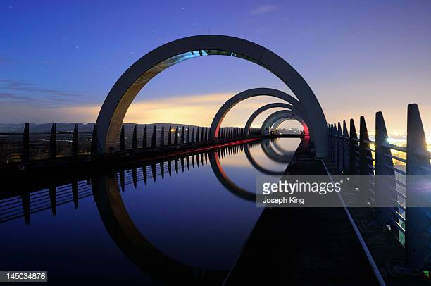 Forth and Clyde Canal  by Falkirk wheel
