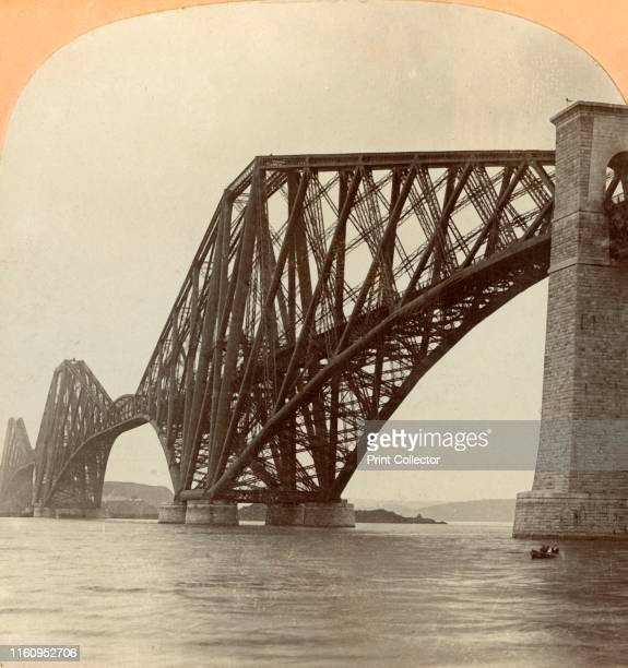 'Forth Bridge Scotland' 1897 The Forth Rail Bridge which spans the Firth of Forth was built for the North British Railway and opened on 4 March 1890...