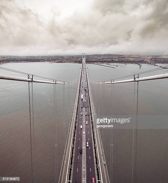 Forth Road Bridge from above
