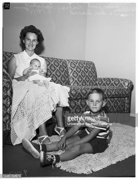 Fortieth Infantry 9 August 1951 Mrs Margaret 'Pat' GatesCarolyn Marie Gates 5 weeksDavid Gates 4½ yearsSupplementary material reads 'James Brezina...