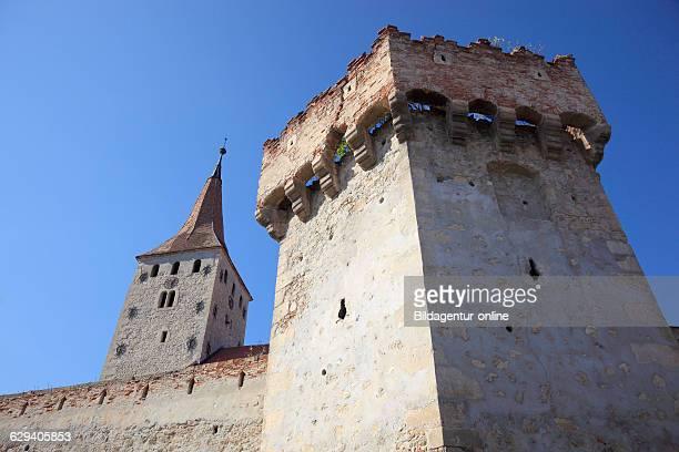 Fortified Church Aiud German Strasbourg Mures a city in Alba County Transylvania Romania