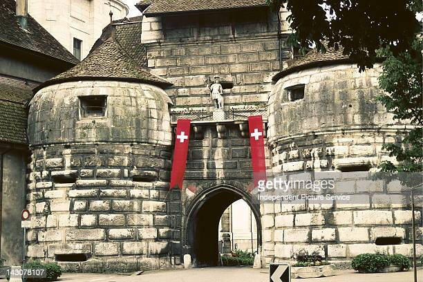 Fortified gate into Solothurn Switzerland this gate faces the town of Biel therefore the gate is called Bieltor