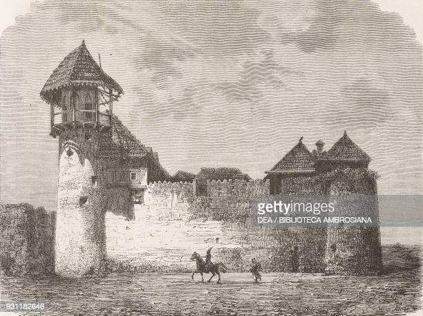 Fortified house in Schucha drawing by H Clerget from a sketch by Vasily Vereshchagin from Travel in Transcaucasia 18641865 by Vasily Vereshchagin...