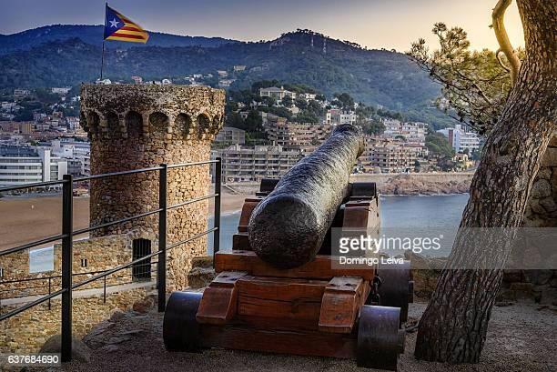Fortified medieval town Tossa de Mar, Girona, Catalonia, Spain
