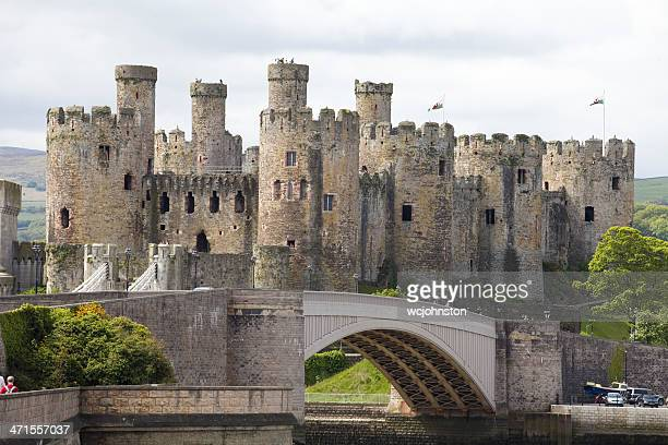 Fortified Towers of the Conwy Castle North Wales
