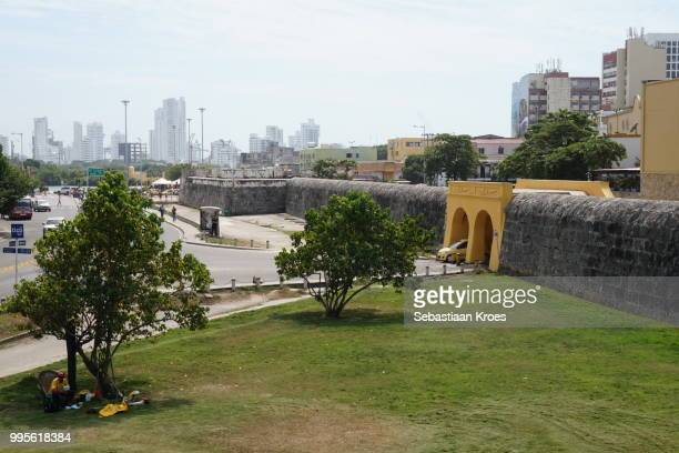 Fortified wall and entrance, Old Cartagena, Colombia