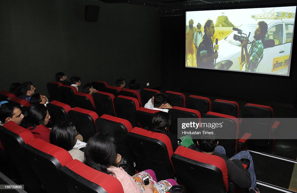 Fortiplex, a 36 seat movie theatre made for entertainment of the attendants inaugurated by director and actor Pankaj Kapoor at Fortis Memorial Research Institute sector- 44 on January 19, 2013 in Gurgaon, India.