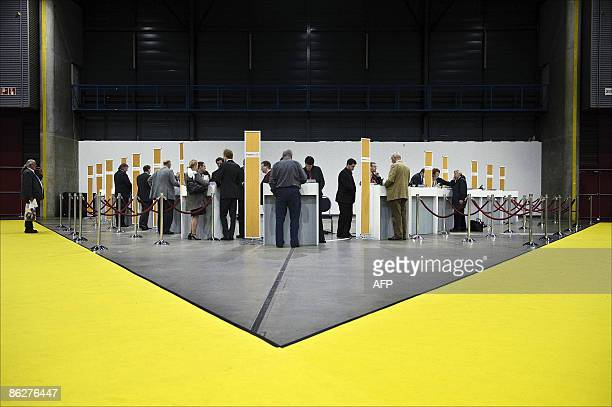 Fortis Bank Shareholders cast their votes on the sale of the group's former Belgian banking arm to French bank BNP Paribas in Utrecht April 29 2009...