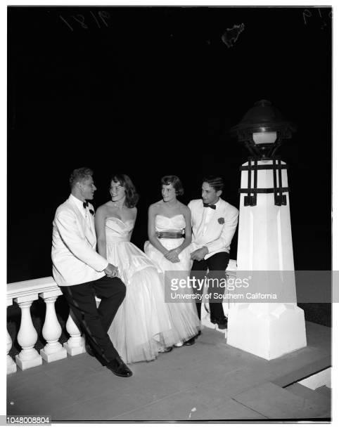 Fortnightley April 27 1951 SocietyBill BalsomBonnie AndersonLeni LietzAnn RubleAndy CaffereyBill BryanLarry ChaffinFrank AgarPatricia FrazierBill...